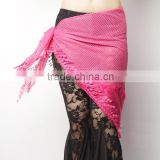 Charming Hot Pink Fashion Belly dance hip scarf