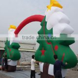 2014 Customized High Quality Inflatable Christmas Tree Arch Decoration For Christmas Holiday