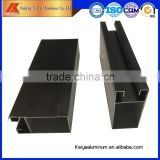 Anodized bronze, anodized champagen window and door aluminum guide rail extrusion profile