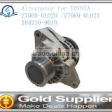 Brand New alternator for TOYOTA 27060-0L020 /27060-0L021 104210-9010 with high quality and low price.