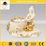 antique luxury classical european style hand made 12.5 'ceramic porcelain Seashell Girl for home decoration