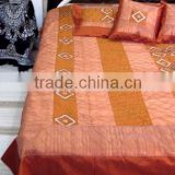 Decorative Brocade silk Bedding set India