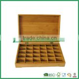 Bamboo Kitchen Tea Caddy/Kitchen Tea Bag Storage Box/36 Grids Gift Box/Jewelry Box/Home Storage Solutions