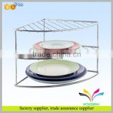Hot selling custom portable desktop elegant stainless steel kitchen utensil display rack