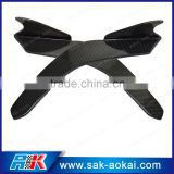 Universal Carbon Fiber Front Bumper Add-on Spoiler Wing