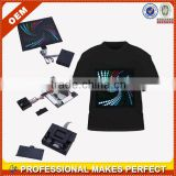 Sound activated led t shirt wholesale (YCT-A0197)