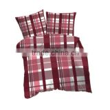 Soft Polyester Microfiber Plaids Printed Flannel Fleece Bedding Set( Duvet Cover+Pillowcase)