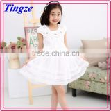 Lovely flower decorated multi-layer dress wholesale beautiful girls puffy dresses for kids