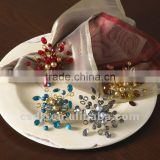 Hand beaded flower design Napkin Ring