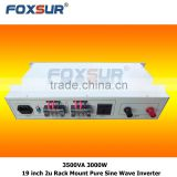 Best quality Foxsur business industrial 3500VA 3000W 48V dc to 110V ac Solar panel 19 inch 2U Rack Mount Pure Sine Wave Inverter
