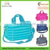 Summer Diaper Bag With Changing Station Stripe Polyester Baby Travel Bag