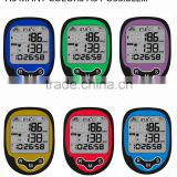 Big LCD Display CE Rohs Heart Rate Bicycle Computer with Thermometer