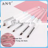ANY Nail Art Maincure 3D Sculpture Acrylic Handle Beauty Hand and Nail Brush Flat UV Gel Art