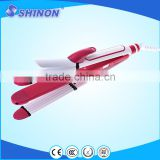Shinon hot selling popular 3 in 1 hair iron includes hair straightener crimper and curler