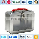 Custom Blank Portable Mini Metal Lunch Boxes with Lock and Key Wholesale Plain Tin Lunch Box with Handle                                                                         Quality Choice                                                     Most Popula