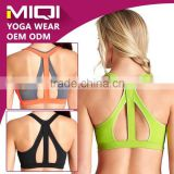 Four Needles Six Threads Activewear Wholesale Women Custom Fitness Bra with Elastic Bands
