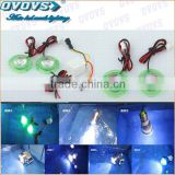 China Motorcycle parts supplier 12v led driving/flashing/decoration light with green ring