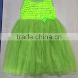 Baby Girl 2015 Wedding Party Dress Lace Cotton Puffy Dress Many Color Bowknot Dress