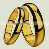 24k gold plated tungsten ring