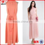 Female Elegant Slim Chiffon Sundress Women Ruffles Sleevless Long Sundress for women &Women's tunic clothing casual