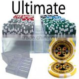 200pc Ultimate Poker Chip Set with Acrylic Case