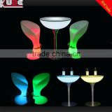 Night Club Used Bar Furniture Nail Bar Table and Bar TableWith LED RGB Light Colors Changing