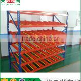 Baffled Fluent Warehouse Carton Rolling Rack Shelving