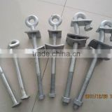 eye bolt M16 / pigtail hook/tension fitting/overhead line fitting /transmission line fitting/line fitting /line hardware