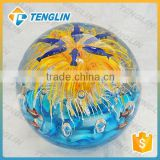 Murano glass flower paperweights wholesale with fish