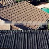natural sand and colorful stone coated metal roof tile