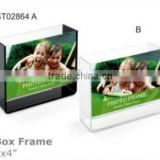 acrylic box photo frame for sale