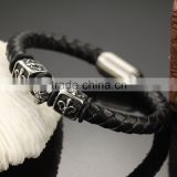 316L Stainless Steel Anchor Charms Fashion Design Skull Bangle