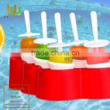 Wholesale convenience goods silicone ice cube tray with lid Eco-Friendly durable juice popsicle ice cube mold