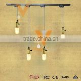 Manufacturer's Premium Industrial Pendant Lamp Vintage Filament Track Light Brass Sockets Hanging Lamp