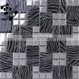 SMJ11 Colorful hand-painted mosaic crystal wall paper art glass mosaic