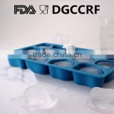silicone polar bear ice cube tray