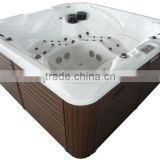 Latest design USA acrylic luxury outdoor massage whirlpool spa total 100Jets with TV DVD