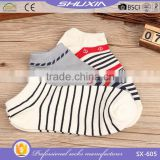 SX 605 more than handred design cotton man sport sock fashion ankle boat socks men and woman custom sock factory