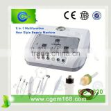 CG-1320 5 in 1 galvanic photon ultrasonic ion facial massage for salon use facial treatment