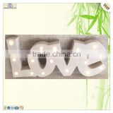 supplie gifts tableware letters love wooden led ornament