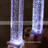 INquiry about glass pillars with bubbles for partition wall