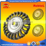 115MM brush wheel twist knot crimped bowl disc abrasive M14 round grinding cheaning brush