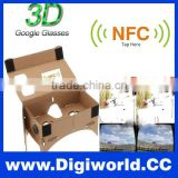 "Cardboard VR Virtual reality 3D Glasses VR NFC Google Glass for 5.5"" Smartphone"