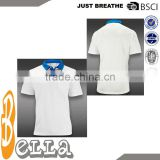 front pocket cotton white collar with blue polo collar mens fashion tennis top sports jersey