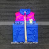 Popular kids padding vest boy jacket with print