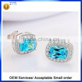 Factory Price Good Quality Halo Designs Earring 925 sterling silver AAA clear CZ stud Earrings
