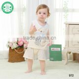 OEM wholesale 100% bamboo baby vest suit