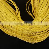 DIY jewelry wire PU leather rope color braided rope wholesale three strands braided 5mm flat leather rope (100 m / roll)
