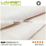 Manufacturing high quality 100% hemp canvas fabric for shoes&bags