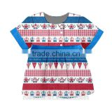 Banner represents the country now beautiful banner pattern printed on the wholesale children's clothing
